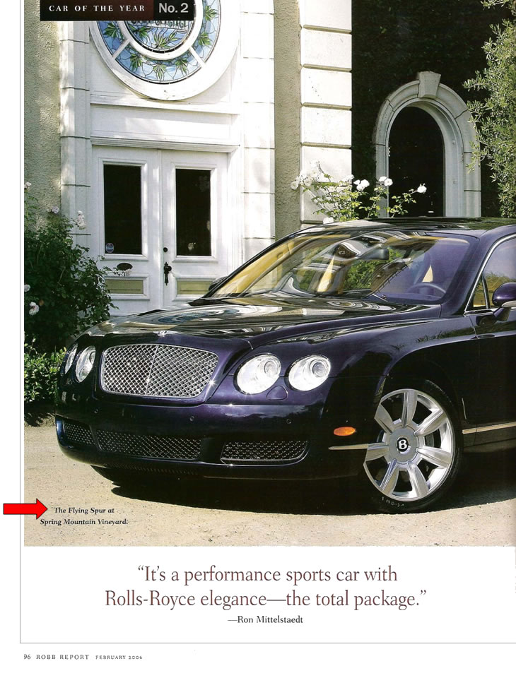 Robb Report, February 2006, page 1